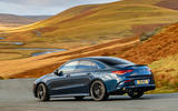 Mercedes-AMG CLA35 2020 road test review - cornering rear