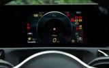 Mercedes-Benz A-Class 2018 road test review instrument cluster g meter
