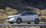Nissan Leaf 2018 UK review on the road left