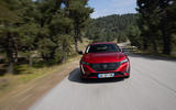 17 Peugeot 308 SW 2021 first drive on road nose