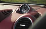 Porsche 718 Spyder 2020 road test review - clock