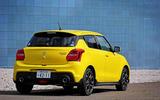 Suzuji Swift Sport Japan-spec review rear quarter