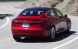 Tesla Model 3 2018 road test review cornering rear