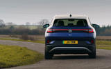17 volkswagen id 4 2021 uk first drive review cornering rear