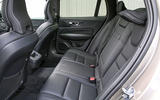Volvo V60 2018 road test review rear seats