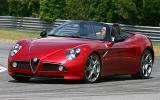Alfa Romeo 8C Spider roof down