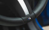 BMW X2 M35i 2019 road test review - steering wheel badge