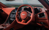 Aston Martin DBS Superleggera 2018 road test review - steering wheel