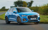 Audi Q3 Sportback 2019 road test review - cornering front