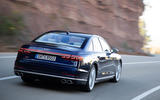 Audi S8 2020 road test review - on the road rear