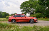 BMW 3 Series 330e 2020 road test review - on the road side