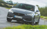 Cupra Leon 2020 road test review - cornering front