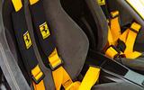Ferrari 488 Pista 2019 road test review - seatbelts
