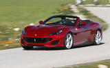 Ferrari Portofino review on the road angle