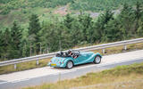 Morgan Plus Four 2020 road test review - on the road rear