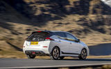 Nissan Leaf 2018 UK review on the road rear