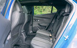 Peugeot e-2008 2020 road test review - rear seats