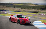Porsche 718 Cayman GT4 2019 road test review - static front