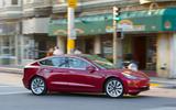 Tesla Model 3 2018 road test review on the road side