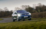 18 volkswagen id 4 2021 uk first drive review on road front