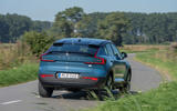 18 Volvo C40 Recharge 2021 first drive review cornering rear