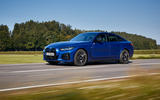 19 BMW i4 M50 2021 first drive review on road front