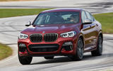 BMW X4 2018 road test review cornering front