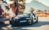 Bugatti Divo 2020 road test review - cornering front