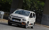 Citroen Berlingo 2018 road test review - cornering front