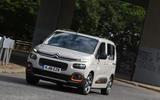 Citroen Berlingo 2018 road test review - cornering front