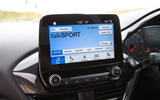 Ford Fiesta ST 2018 road test review infotainment screen