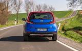 Kia Soul EV 2019 European first drive - on the road rear