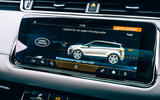 19 Land Rover Range Rover Evoque 2021 road test review off road display