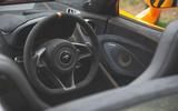 McLaren 600LT Spider 2019 road test review - steering wheel