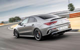 Mercedes-AMG CLA 45 S 2019 road test review - track rear