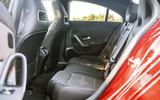 Mercedes-Benz CLA 2019 road test review - rear seats