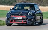 Mini JCW GP 2020 road test review - cornering front