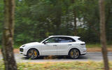 Porsche Cayenne Turbo 2018 road test review on the road side