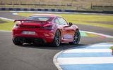 Porsche 718 Cayman GT4 2019 road test review - static rear