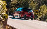 Toyota Corolla hybrid hatchback 2019 road test review - cornering rear