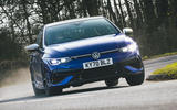 19 Volkswagen Golf R 2021 RT cornering