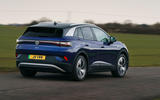 19 volkswagen id 4 2021 uk first drive review on road rear