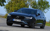 Volvo V90 T6 Recharge PHEV 2020 road test review - on the road front