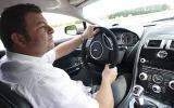 Driving the Aston Martin Vantage