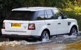 Range Rover Sport wading