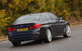 Alpina D5 S review on the road rear