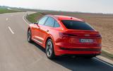 Audi E-tron Sportback 2020 road test review - hero rear