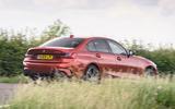 BMW 3 Series 330e 2020 road test review - hero rear