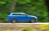 Jaguar F-Pace SVR 2019 road test review - hero side