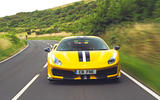 Ferrari 488 Pista 2019 road test review - hero nose